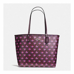 Coach Tote in Burgundy Multi/Oxblood