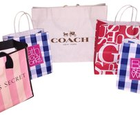 Coach Tote in White Red Blue