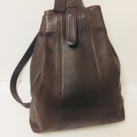 Coach Brown Leather Flatiron Sling Backpack - Tradesy