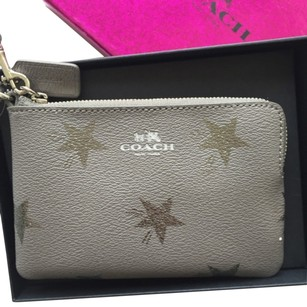 Coach Wallet Grey Corner Zip Wristlet in Gray