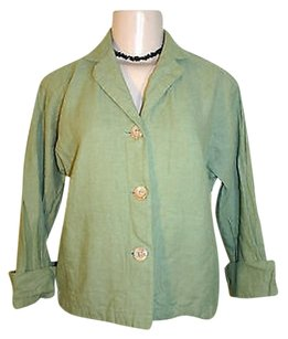 Coldwater Creek Pxs Petite Green Jacket