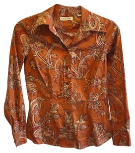 Coldwater Creek Paisley Button Down Shirt