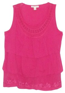 Coldwater Creek New With Tag Ruffled Front Top Pink
