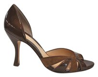 Cole Haan bronze suede and patent leather Pumps