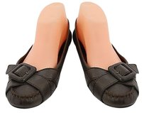 Cole Haan Womens 9b Leather Casual Career Slip On Brown Flats