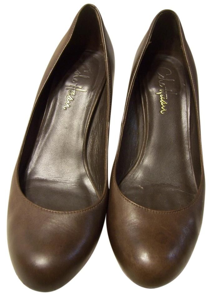 Cole Haan Nike Air Technology High Heels Leather Brown Pumps ...