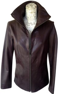 Cole Haan DARK ESPRESSO Leather Jacket