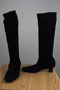Cole Haan Womens Solid Black Boots