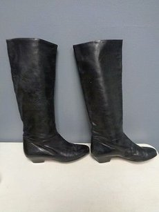 Cole Haan Soft Leather Casual Mid Calf Fashion W Heel B2615 Black Boots