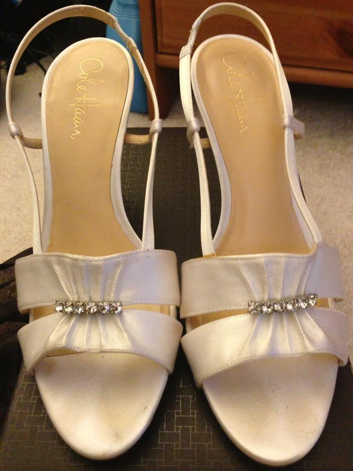 cole haan wedding shoes cole haan wedding formal white satin wedding shoes tradesy 3008