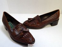 Cole Haan Italy Woven Brown Flats