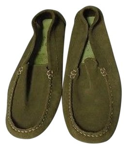Cole Haan Suede Round Green Flats