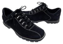 Cole Haan Country Suede Leather Lace Up Oxford B Black Flats