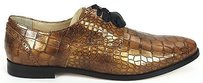 Cole Haan Embossed Perforated Trim Breslyn Oxford Metallic Camel Gold Flats