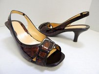 Cole Haan B Tortoise Brown Pumps