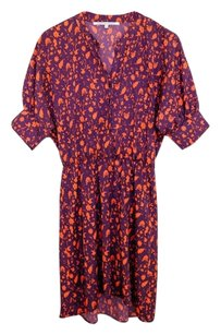 Collective Concepts short dress Purple Silk Floral on Tradesy