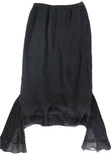 Collette Dinnigan Black Silk Dil Skirt