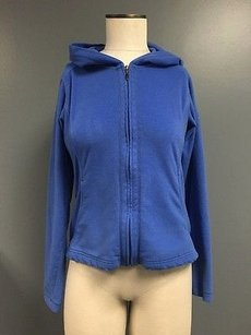Columbia Columbia Blue Hooded Zip Up Long Sleeve Fleece Jacket W Pockets Sma4583