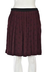 Comptoir des Cotonniers Womens Pleated Above Knee Casual Skirt Maroon