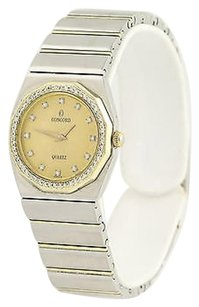 Concord Concord Mariner Sg Wristwatch- Stainless Steel 18k Gold Quartz Diamonds .30ctw