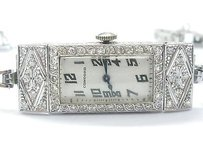 Concord Vintage Concord Platinum 14kt Diamond Wristwatch 7 2.00ct