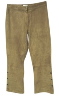 Confort Absolu Paris Womens Pants Suede Pants Capris Tan