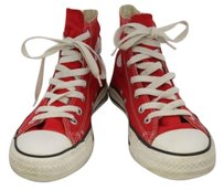 Converse Coverse All Star Womens Red Flats