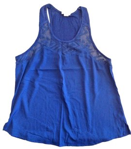 Converse Trim Racer-back Top ONE STAR BLUE LACE RACERBACK NAVY TANK SMALL