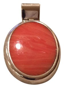 Coral pendant with silver