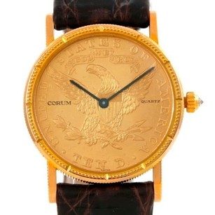 Corum Corum 22k Yellow Gold Dollars Coin Diamond Ladies Watch