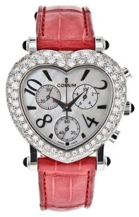 Corum Corum Romantic Heart Chronograph 196.183.69 18k White Gold Watch for Women WTCHDW