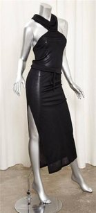 CoSTUME NATIONAL Womens Black Knit Halter Sheath Straight Maxi 404s Dress