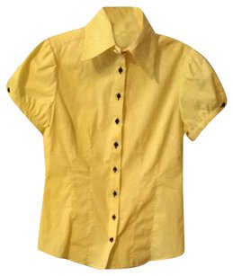 Cotton Express Button Down Shirt Yellow