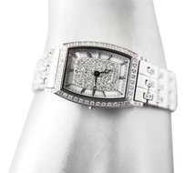 Croton Croton Ladies Stainless Steel Cubic Zirconia Watch Rhodium Plated Newbox