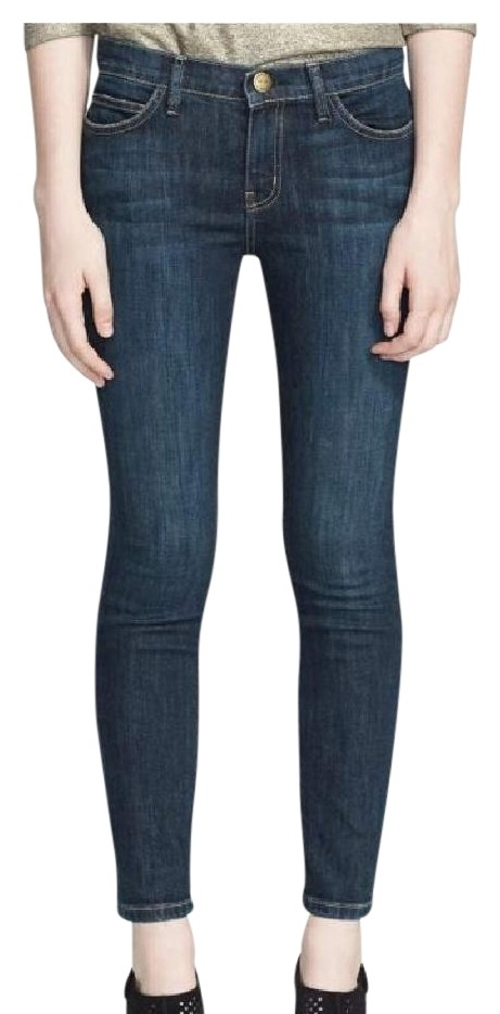 Visit New Online 2018 Newest Sale Online Current/elliott Woman Distressed Mid-rise Skinny Jeans Mid Denim Size 24 Current Elliott GIWWbJMNuL