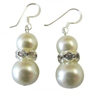 Custom Earrings In Your Color For Bridemaids Flower Girl