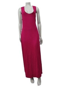 Magenta Maxi Dress by Cynthia Rowley Scoop Neck Racer Back Maxi