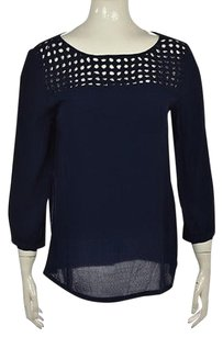 Cynthia Rowley Womens Navy Top Blue