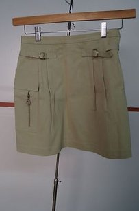 Cynthia Steffe Khaki Mini Skirt Beiges