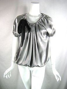 Cynthia Steffe Silk Top Gray