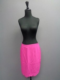 Dana Buchman W Back Zipper And Lining Silk Blend Sm2708 Skirt Hot Pink