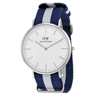Daniel Wellington Classic Glasgow Eggshell White Dial Blue Men's Watch 0204DW