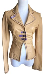 Danier Nude and purple Leather Jacket