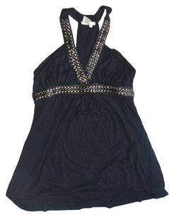 DATING CLOTHING Studded Top BLACK