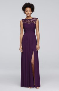 David's Bridal Plum F19328 Dress