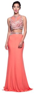 David's Bridal Prom Halter 2 Piece Dress
