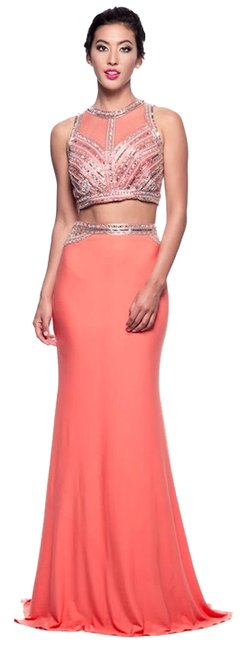 David's Bridal Coral Prom Halter 2 Piece Dress - 61% Off ...