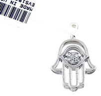 David Yurman 14k White Gold Hamsa Floating Diamonds Pendant