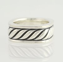David Yurman Sculpted Cable Ring - Sterling Silver Womens Designer