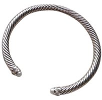 David Yurman Cable Classics Bracelet with Pearls and Diamonds 5mm (Medium)